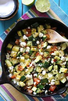 Skillet Mexican Zucchini