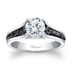 Black Diamond Engagement Ring - Black Diamond Engagement Ring Id like it better if the center stone was a princess cut instead