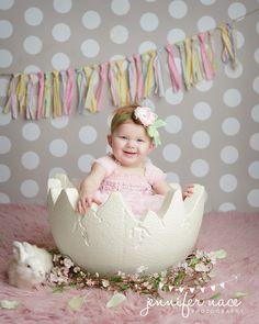 Easter garland photographed by Jennifer Nace Photography
