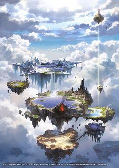 20 drawn fairytale worlds- 20 нарисованных сказочных миров 20 drawn fairytale worlds - Fantasy City, Fantasy Kunst, Fantasy Places, Fantasy World, Final Fantasy, Fantasy Village, Fantasy Forest, Fantasy Art Landscapes, Fantasy Landscape