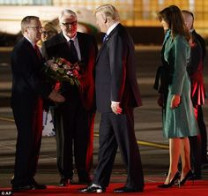 The President, First Lady, First Daughter, and Jared Kushner arrived in Warsaw on Wednesday night on Air Force One.