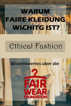 HEUTE IM BLOG... erzähle ich euch etwas über die Fair Wear Foundation. Wer das ist und was die genau machen. Außerdem gibt´s ein MUST-SEE-VIDEO, das dir die Augen öffnen wird! Also hüpf´rüber in unseren Blog! #EthicalFashion #WearFair #Fashion #FairFashion #FairWearFoundation #FairFashion #Ethical Ethical Fashion, Blog, How To Wear, Clothes, Interesting Facts, Eyes, Nature, Outfit, Clothing