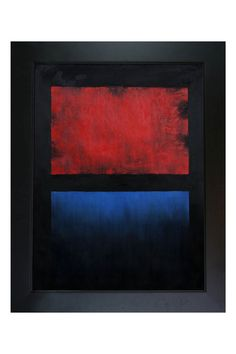 Mark Rothko No. 14 (Red, Blue Over Black), Oil Painting