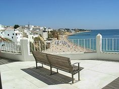 What a view over the old town Albufeira beach.