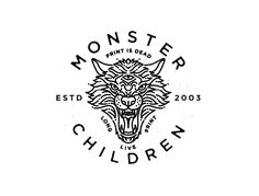 Monster Children Dire Wolf & King Crow Logos by Brian Steely