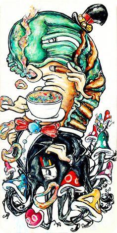 alister-dippner-caterpillar-cigar-smoking-coffe-animal-insect-art-illustration-design-drawing-painting.jpg (580×1156)