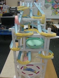 Who can make the paper roller coaster?  Click on the image to see some great examples.