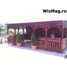 Foisor rustic dreptunghiular Mangalia Pergola Patio, Gazebo, Shed Homes, Patio Design, Outdoor Structures, Concept, Outdoor Decor, House, Home Decor