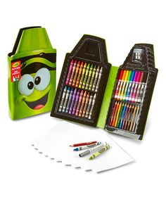 This Crayola Electric Lime Tip Art Kit is perfect! #zulilyfinds