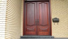 Custom double door, mahogany, custom stain