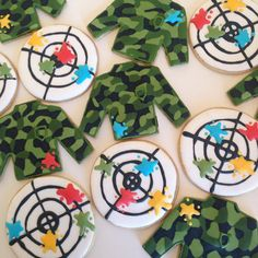 Camo Paintball Custom Sugar Cookies (one dozen)
