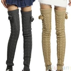Sweater knit Thigh highs in brown Brand new without tags, never been worn. Light brown (not same color as display photos, color in last two photos). Thick sweater knit thigh highs or leg warmers that tie at top Accessories Hosiery & Socks