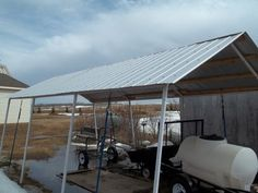 Replace Canvas Roof with Corrugated Steel on a Portable Garage Corrugated Sheets, Corrugated Roofing, Steel Roofing, Corrugated Metal, Carport Canopy, Gazebo Roof, Carport Plans, Portable Garage, Portable Shelter
