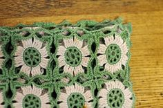 Crochet blanket fresh & minty
