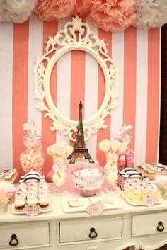 London + Paris themed party