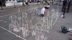 28 Illusory Graffiti Displays - From 3D Illusion Chalk Drawings to 3D Dark Knight Designs (TOPLIST)