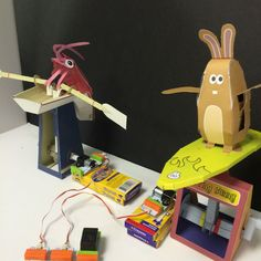 Picture of Papercraft Automata Race Game littleBits Circuit