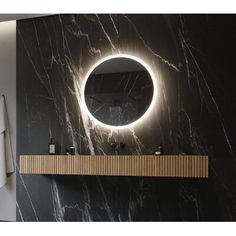 Bathroom Mirror With Shelf, Master Bathroom Vanity, Vanity Wall Mirror, Black Interior Design, Mirrors Wayfair, Beautiful Mirrors, Metal Homes, Bathroom Interior, Bath