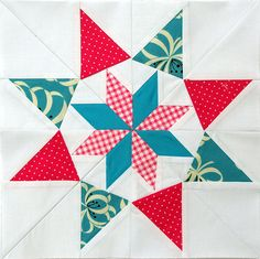 Carol Doak's Colorado Star, paper pieced, from her book 50 Fabulous Paper Pieced Stars