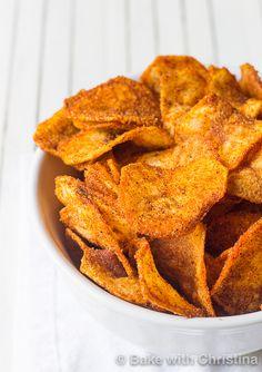Easy Homemade BBQ Potato Chips - Bake with Christina-3