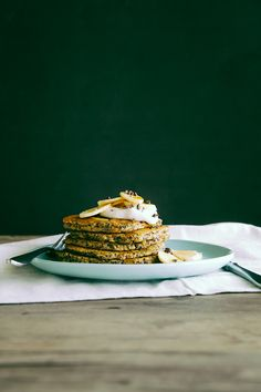 Coconut, Almond and Quinoa Breakfast Cakes by thefirstmess #Pancake #Quinoa #Coconut #Almond