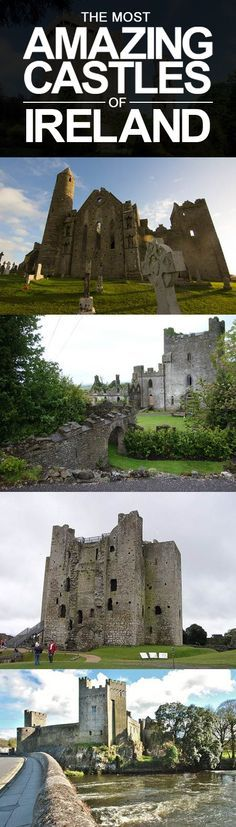 The Most Amazing Castles in Ireland #Travel #Ireland Travel Companies, Mount Rushmore, Mountains, Mont Rushmore, Bergen