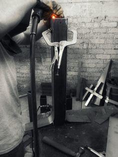 Proceso de soldadura MIG. Pedestal para mesa bar. #Ulises #METTAL #MYST