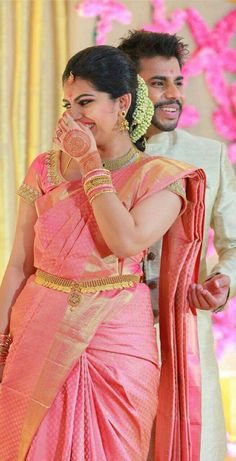wedding saree and wedding saree indian Classy designer blousess for sarees Head over to the internet site to learn more about _ Bridal Sarees South Indian, Bridal Silk Saree, Soft Silk Sarees, Saree Wedding, Indian Wedding Sarees, Indian Sarees, Pink Saree Silk, Designer Sarees Wedding, Indian Bridal Fashion