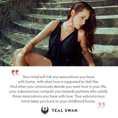 Swan Quotes, Teal Swan, Subconscious Mind, What Is Love, Revolutionaries, Love Life, Spirituality, Feelings, Instagram