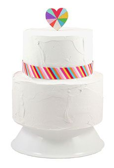 UNIQUE WEDDING CAKE TOPPERS  Rainbow wooden cake topper, $40, The Small Object