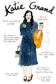 Fashion editors get the doodle treatment! Illustrations by Joana Avillez