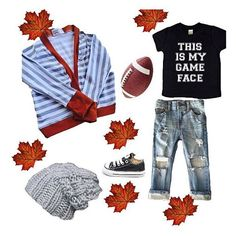 Fall is SO close + we just got our •GAME FACE + BUT FIRST, FOOTBALL• shirts in!! They have been going super fast + we only have a limited amount left, so don't miss out! 🍃🍂🍁🏈 • • • • • • #cutekidsclub #igfashion #kidzootd #instagram_kids #trendykiddies #babiesofinstagram #kidzfashion #kidslookbook #kids_stylezz #thechildrenoftheworld #igkiddies #clevelandbrowns #bestfriend #parenthood #mommy #mommylife #mom #momlife #allmommedout #motherhood #mother #nfl #bestfriend #graphictee…