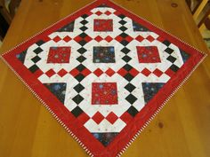 Quilted Table Topper Fireworks