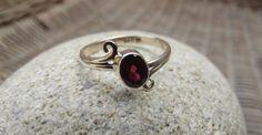 Garnet ring 925 sterling silver ring garnet di silveringjewelry