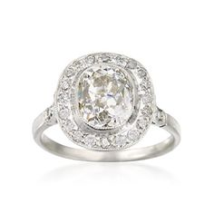 C. 2000 Vintage 2.79 ct. t.w. Diamond Ring in Platinum. Size 6.5