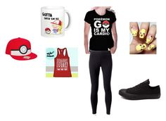 """""""pokemon go outfit"""" by soccermadison on Polyvore featuring beauty, Jockey and Converse"""