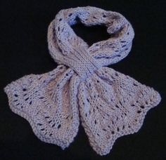 one skein butterfly bowknot scarf.... almost makes me want to pick up another knitting project