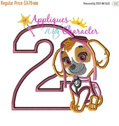 SALE Paw Sky Patrol Pup Two Applique Embroidery Machine Design 4 sizes Instant Dowload by appliqueswcharacter on Etsy https://www.etsy.com/listing/267504353/sale-paw-sky-patrol-pup-two-applique
