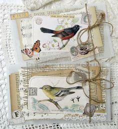 collaged bird envelopes from saray.viola.blogspot.com
