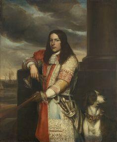 Portrait of Vice-Admiral Engel de Ruyter, Son of Michiel Adriaensz de Ruyter, Jan Andrea Lievens, 1667 - 1680 Rembrandt, Adele, Exploration, Man And Dog, Classic Paintings, Dutch Painters, Portraits, Portrait Paintings, Old Master