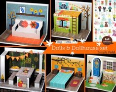 Paper Toy Dolls and Dollhouse set / Creative Play / Party Favor [Seasonal Sale Priced] Paper Doll House, Paper Houses, Creative Play, Creative Crafts, Paper Toys, Paper Crafts, Foam Crafts, Paper Art, Art For Kids