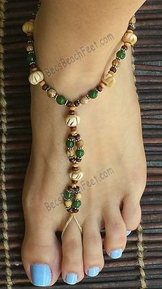 Jasper/Jade Serenade ~ BecsBeachFeet.com ~ Handmade Foot Jewelry For Anytime AnyWEAR!™