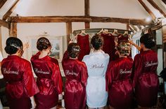 RESERVED for MEGAN-Bridesmaid robe Purple bridesmaid gown personalized robes bridesmaids robe silk floral robe kimono dressing gown cheap Bridesmaids And Groomsmen, Wedding Bridesmaid Dresses, Bridesmaid Robes Cheap, Wedding Gowns, Christmas Bridesmaid Dresses, Bridal Party Robes, Marie, Red Burgundy, Red Gold