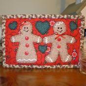 Gingerbread Mug Rug - Christmas Mug Rug - via @Craftsy Mini Quilt Patterns, Christmas Quilt Patterns, Christmas Applique, Mug Rug Patterns, Christmas Sewing, Christmas Minis, Christmas Crafts, Christmas Ideas, Christmas Quilting