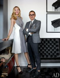 Designer Gilles Mendel and Kylie Case's Graphic New York City Apartment