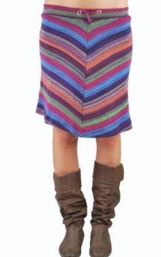 Plus Le Mieux Casual Blue Geometric Cotton Skirt Knee Length Missy