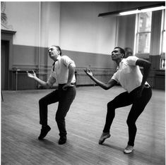 George Balanchine working with former New York City Ballet Dancer Arthur Mitchell. @nycballet #nycb #dance