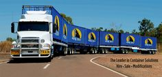 Volvo pulls the road train...