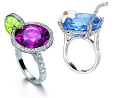 Now these are cocktail rings.... literally!  Made by Piaget