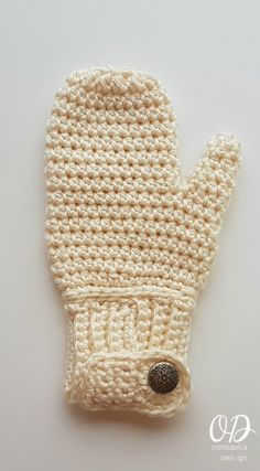 EASY-ON Mittens Free Pattern Oombawka Design Crochet - Adult Large example